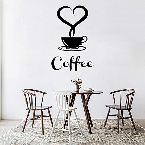 wlwhaoo Abnehmbare DIY Küche Dekor Kaffeetasse Decals Vinyl Aufkleber Dekoration gelb XL 58 cm X 96 cm