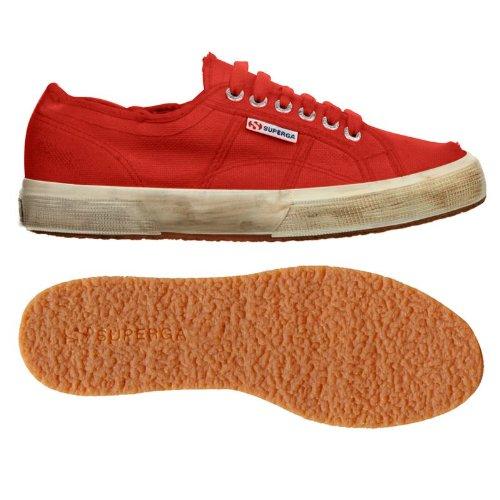 Superga 2750 COTUSTONEWASH, Sneaker Unisex - Adulto Red