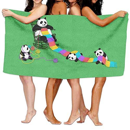 Fedso Panda Toallas de Playa Ultra absorbentes de Microfibra para baño de...