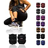 Xn8 Sports Ankle Weights Velcro Adjustable Resistant 0.5kg 0.75kg 1kg 1.5kg 2kg 2.5 kg 3kg 4kg 5kg Leg Wrist Strap Running Cross Fitness Gym Training Exercise (Black, 3Kg Pair = (3 x 2 = 6Kg))