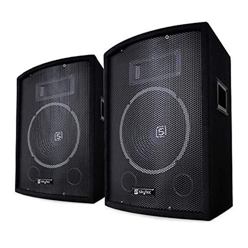 "Skytec SL10 Passiv-Box Lautsprecher 2er-Set • 10\"" (25 cm) Woofer • Leistung: 150/250 W max. / 500 W Spitze • 2-Wege-Bassreflex • Piezohorn • Monitor"