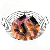 Dracarys High Efficiency BBQ Zubehör Edelstahl Kohle Asche Korb Lump Kohle Feuerkorb passt für große (L) Big Green Egg und Kamado Joe Classic I / II oder andere Charcoal BBQ Grill