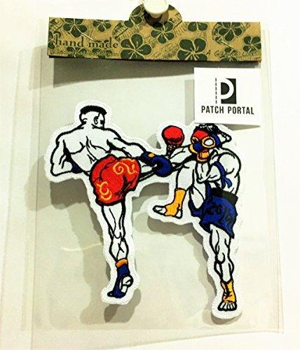 Gratis Boxer Shorts (Patch Portal Boxen 12,7cm Nähen Eisen auf bestickt Patches Muay Thai Boxer DIY Aufnäher patch-boxer Sports MMA für Herren Tshirt Jacken Tuch Jeans Weste Shorts)