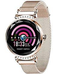 Fuibo Women's Blood Pressure Sports Smart Bracelet Watch Pedometer Fitness Watch with Pedometer