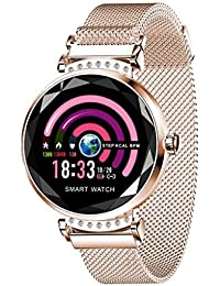 Tianya H2 Mode Women Blood Pressure Sport Smart Armbanduhr Schrittzähler Sport Loop (Rose Gold)