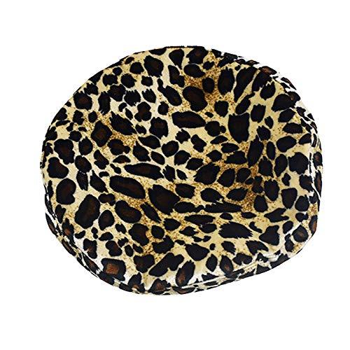 ERQINGBM Barett Herbst-Winter-Leopard-Druck-Zebra-Gestreifte Beiläufige Runde Flache Oberseite Erwachsene Barette-Frauen-Mode-Flut
