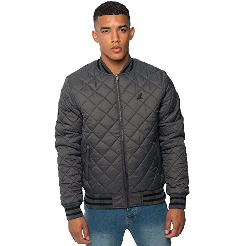 Men Kangol Swain T-Shirt Charcoal S (Bubble Quilted Jacket)