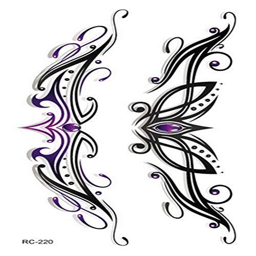 adgkitb Persönlichkeit Mode Farbelemente für Männer und Frauen Tattoo Aufkleber Kinder Erwachsene Wasser Aufkleber 29 10,5x6cm (Dragonfly Mann Kostüm)