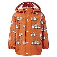 Kozi Kidz Uggla Rain Jacket - Orange Owls Size:110 cm (4-5 yrs)