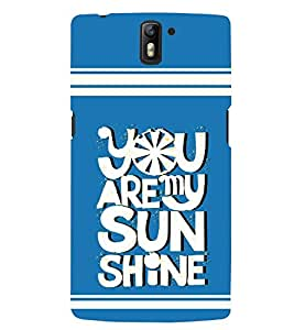 printtech Sun Shine Back Case Cover for One Plus One::One Plus1