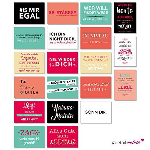 Preisvergleich Produktbild Detailverliebt! 20 Postkarten mit coolen Sprüchen zum Versenden an Ihre Freunde oder einfach zum Anpinnen in der Wohnung, dv_187 | Postkarte Sprüche Spruch Modern Statement Quotes