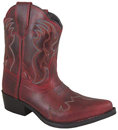 Smoky Mountain Girls Red Juniper Short Snip Toe Western Cowboy Boot
