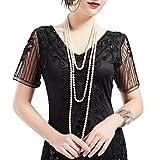 BABEYOND Modische Imitation Perlen Kette Flapper Art Deco 1920s Gatsby Kostüm Accessoires Lange Perle Halskette 300 cm/118