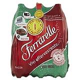 Ferrarelle, Acqua Minerale Effervescente Naturale - 6 Bottiglie da 1.5 Litri