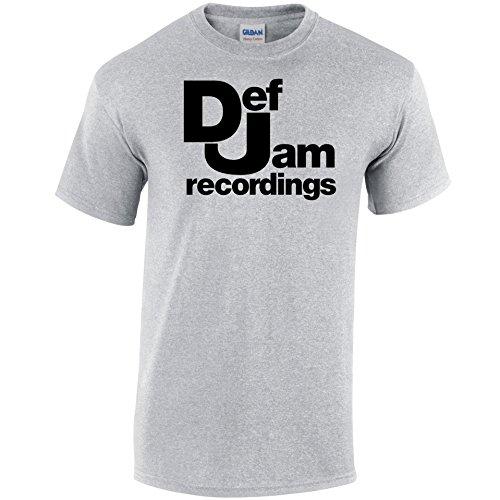 Inspiriert DEF JAM Records T-Shirt Grau - Grau - Sport Grey