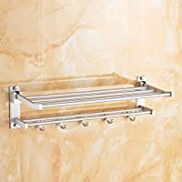 Handost Double Deck Bathroom Towel Rack,Punching Moneymodern Simple And Durable Home Decoration Classic Quality Assurance