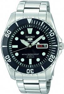 Reloj Seiko SNZF17K1 de caballero automático con correa de acero inoxidable plateada - sumergible a 100 metros de Seiko
