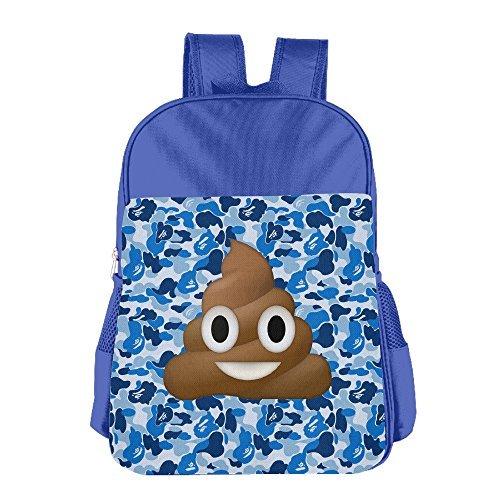 BlackPink Poop Emoji-Süße Schule Tasche Rucksack für 4~ 15Jahre alt Kinder Blau Königsblau Einheitsgröße