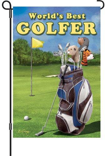 Premier Kites 51861Garten Brilliance Flagge, World 's Best Golfer, 12von ()