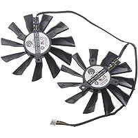 SUNKEE 2 Pcs/lot PLD10010S12HH 95mm Video Card Fan Repair Parts For MSI GTX770 R9-280X R9-270X R9-260X 4Pin Cooling Fan