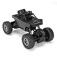 Specifiche tecniche: Velocità massima: 7km / h Tipo di azionamento: quattro ruote motrici Batteria per auto: Batteria ricaricabile NI-MH 400MAH 4.8V (built-in) Batteria del trasmettitore: batteria 9V (inclusa) Tempo di corsa: 15-20 minuti Tempo di ca...