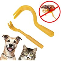 Tick Remover Removal Hook Tool Remove Ticks On Dogs Cats, All Other Animals As Well As Humans With This Easy To Use Hook Twist Tool 2Pcs/Set Different Size