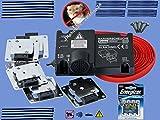 Marderabwehr Marderschutz Marderscheuche Marder-Schocker KEMO M229/SET Komplettset batterie-betrieben + bordnetzunabhängig - Top-Abwehrgerät mit 6 Plus/Minus-Hochspannungsplatten INKLUSIVE 4 x Ultimate-Lithium-Batterien INKLUSIVE Montage-Kit-Befestigungsset (Kabelbinder+Schrauben) universell einsetzbar für KFZ PKW AUTO LKW Wohnmobil Bus