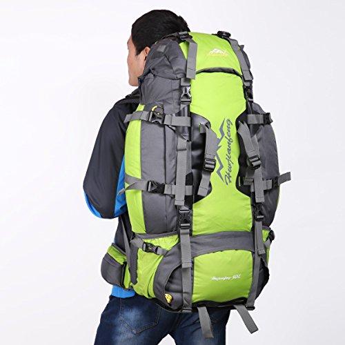 HWJIANFENG Zaino 80L Capacità Grande da Trekking Outdoor da Uomo e Donna Zaino Impermeabile per Alpinismo Escursionismo Corsa Campeggio Montagna verde