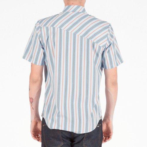 Volcom - - Weirdoh Stripes Woven Shirt Homme Light Blue