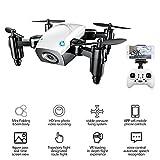 FAITHPRO S9W Mini-Selfie-Drohne, 4-Achsen-Feldrohne, faltbar, mit WiFi-FPV Kamera, Höhenhaltung, One Key Return Funktion, tolles Geschenk für Kinder