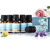 Janolia Aceites Esenciales, 6x10ML Aceites de Masaje Naturales Set, Set de Regalo de Aromaterapia...