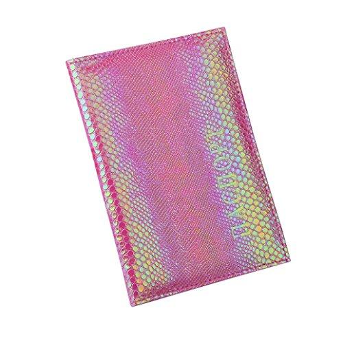 Manadlian Eidechse Reisepass Halter Schutz Brieftasche Visitenkarte Weiche Passdecke Bankkarten-Paket Passport-Kartenpaket (Lila) (Lila Brieftaschen Reise)