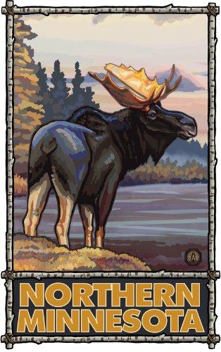 Northwest Art Mall Northern Minnesota Elch Kunstwerke von Paul A. lanquist, 27,9cm von 43cm
