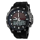 TTLIFE 1064 Herren Wasserdichte Armbanduhr Multifunktions-Quarz-Outdoor Solar Analog-Digital-Display-Sport-Uhr-50M Wasserdichte Unisex Uhr