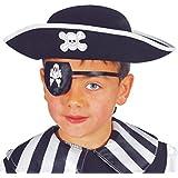 Guirca - Sombrero de pirata de fieltro, para niños, color negro (13555)