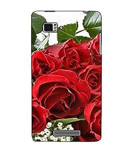 Fuson Designer Back Case Cover for Lenovo Vibe Z K910 (A Red Rose Theme)