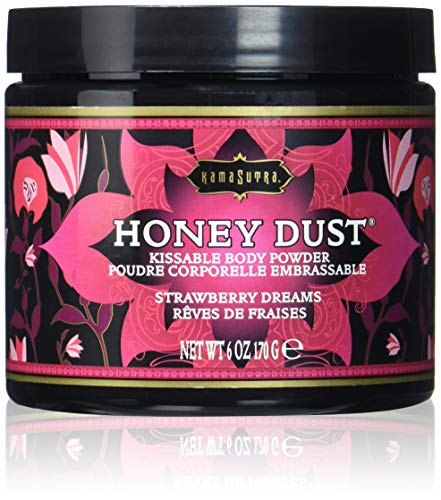 KamaSutra Honey Dust Körperpuder mit Quaste und Satinbeutel - Strawberry Dream (Erdbeere), 1er Pack (1 x 170 g)