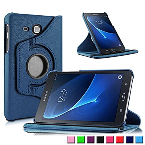 Infiland Samsung Galaxy Tab A 7.0 Hülle Case - PU Ledertasche lederhülle 360° Drehbarer Stand Cover Case Schutzhülle Tasche Etui für Samsung Galaxy Tab A 7.0 17,8 cm SM-T280 (7