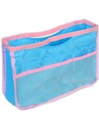 Petit organisateur de sac Bleu pastel, pochette/sac de rangement intérieur pour sac à main (disponible en plusieurs versions)