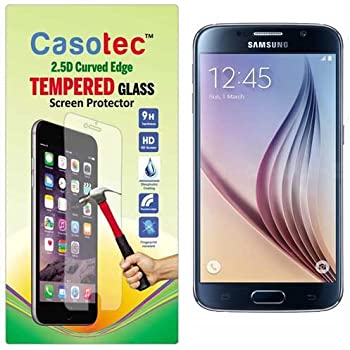 Casotec 2.5D Curved Edge Tempered Glass Screen Protector for Samsung Galaxy S6