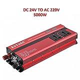 ONEVER 5000W de potencia del inversor solar del coche LED DC 24V a 220V CA de...