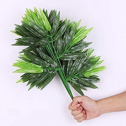 Vosarea 12 Piezas de bambú Artificial Deja Plantas Verdes Falsas Hojas Verdes para la decoración de la Oficina del Hotel en casa