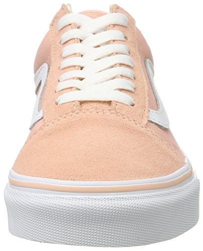 Skool Tennis White Scarpe Pesca camoscio Canvas Femme Da Bassi Old Ua True Rose Le Furgoni Tropicale EYZwx