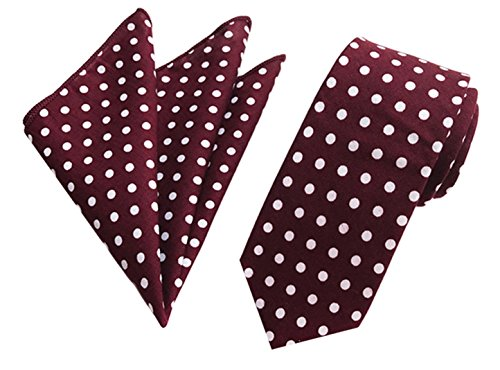 LANTA Home Pañuelo de Corbata de Lunares para Hombre, Tejido, Corbata clásica, Bolsillo, Conjunto Cuadrado