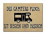 LUXECARDS POSTKARTE aus Holz DES CAMPERS FLUCH Spruch Geschenk Camping