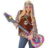 NET TOYS Aufblasbare Gitarre Deko Luftgitarre Hippie Rocker Inflatable Guitar Rockstar Gummigitarre Party Gitarren Instrument Mottoparty Musikinstrument Accessoire Partydeko aufblasbar