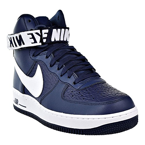 """5c1a44a3cb9 Nike Air Force One AF1 High  07 NBA Edition """"College Navy"""" Retro ..."""