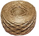 100 Meter - Natural Textured Hessian Jute Twine String 1mm 1-Ply - 109 Yards for Rustic Shabby Chic Wedding Card ,Gift Wrapping Decoration,Price Tag, DIY Craft Scrapbooking, Floristry
