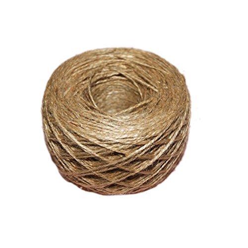 100 Meter - Natural Textured Hessian Jute Twine String 1mm 1-Ply - 109 Yards for Rustic Shabby Chic Wedding Card ,Gift Wrapping Decoration,Price Tag, DIY Craft Scrapbooking, Floristry Test