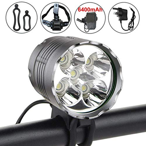 Rapture Solarstorm Light 4 Mode Xm-l U2 Led Cycling Front Light Lamp Torch Flashlight Headlamp Waterproof Battery Pack Charger